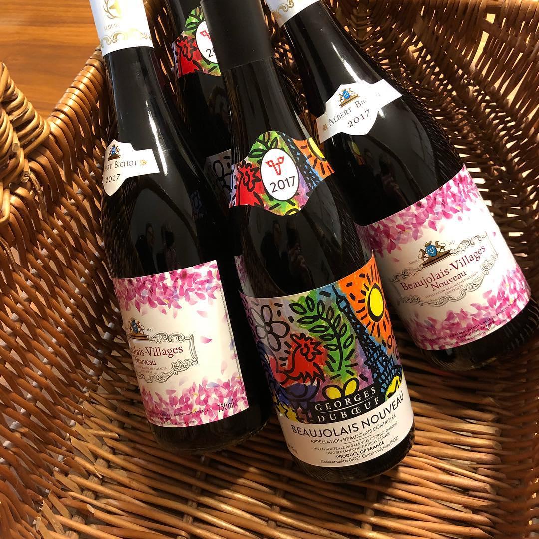 Sehn on marraskuun kolmas torstai beaujolaisnouveau beaujolais2017 wine punaviini ranskahellip